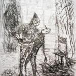 Pinocchio e il burattino, acquaforte 2004